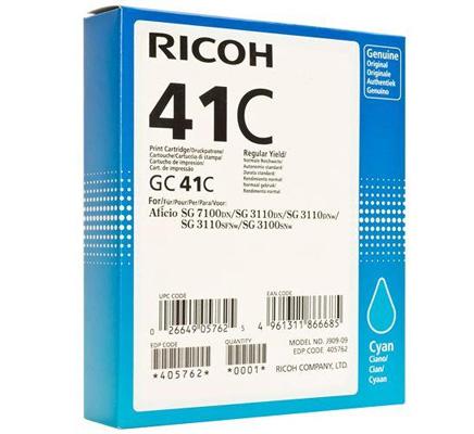 RICOH RHGC41C 405762 INK GEL CIANO -- .