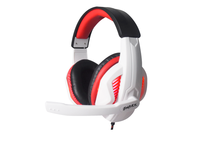 CORTEK CUFFIE GAMMEC SHARK GAMING WHITE