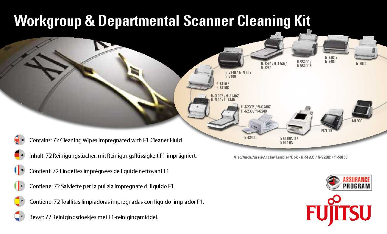 Fujitsu Kit di pulizia per scanner