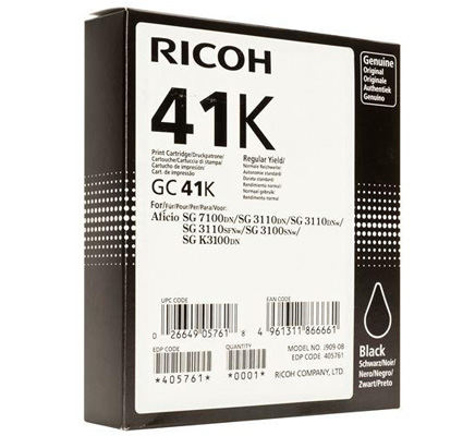 RICOH RHGC41K 405761 INK GEL NERO -- .
