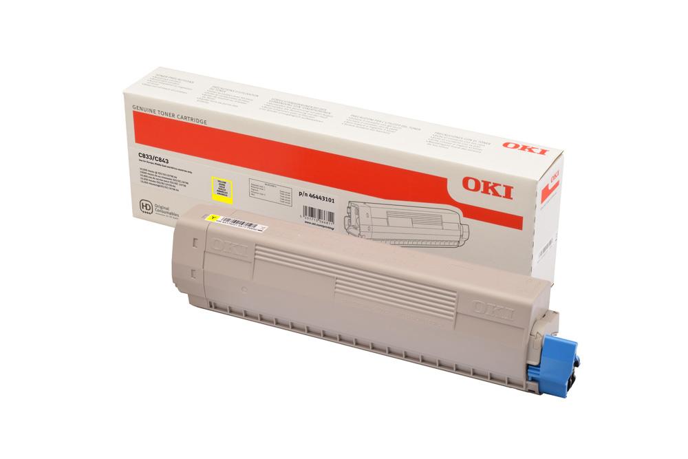 Oki C833 Toner Giallo 10k