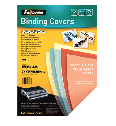 Fellowes Copertine Clear A4 PVC