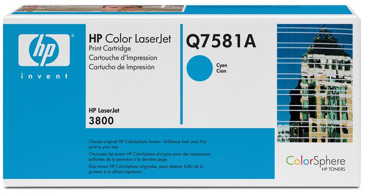 Hp Q7581a Lj3800 Toner Ciano