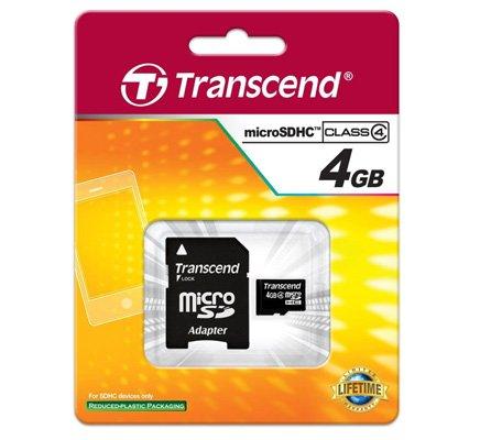TRANSCEND MICRO SD 4GB 2 IN 1 HC4