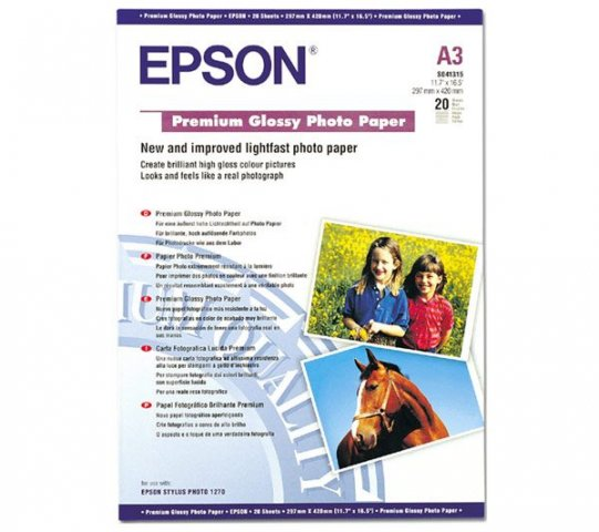 EPSON S041315 CARTA A3 FOTO LUCIDA*