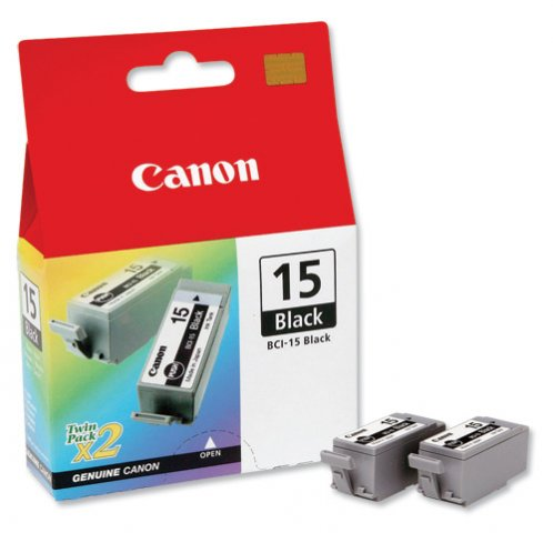 CANON BCI-15 BK INK JET NERO 2PZ (X)