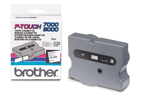 Brother Tx-251 Nastro Tx Nero /bianco