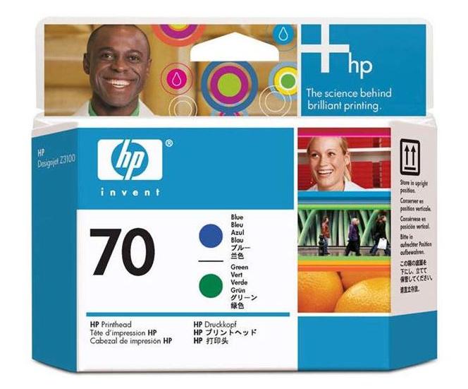 HP C9408A N70 TESTINA BLU E VERDE #