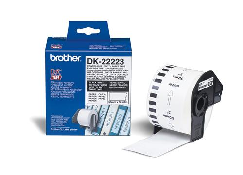 BROTHER DK-22223 DK ETICHETTE ADESIVE