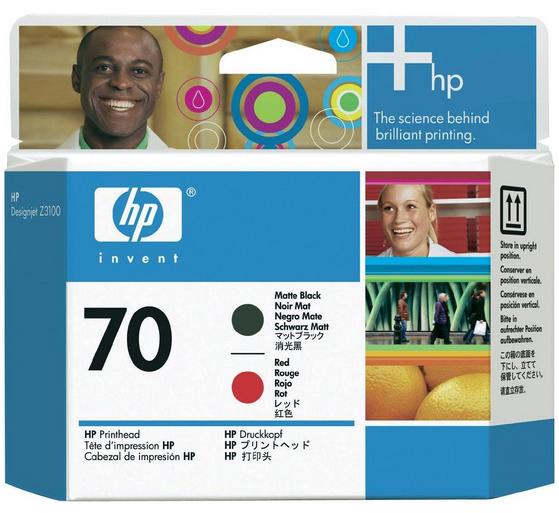 HP C9409A N70 TESTINA NERO OPACO E ROSSO